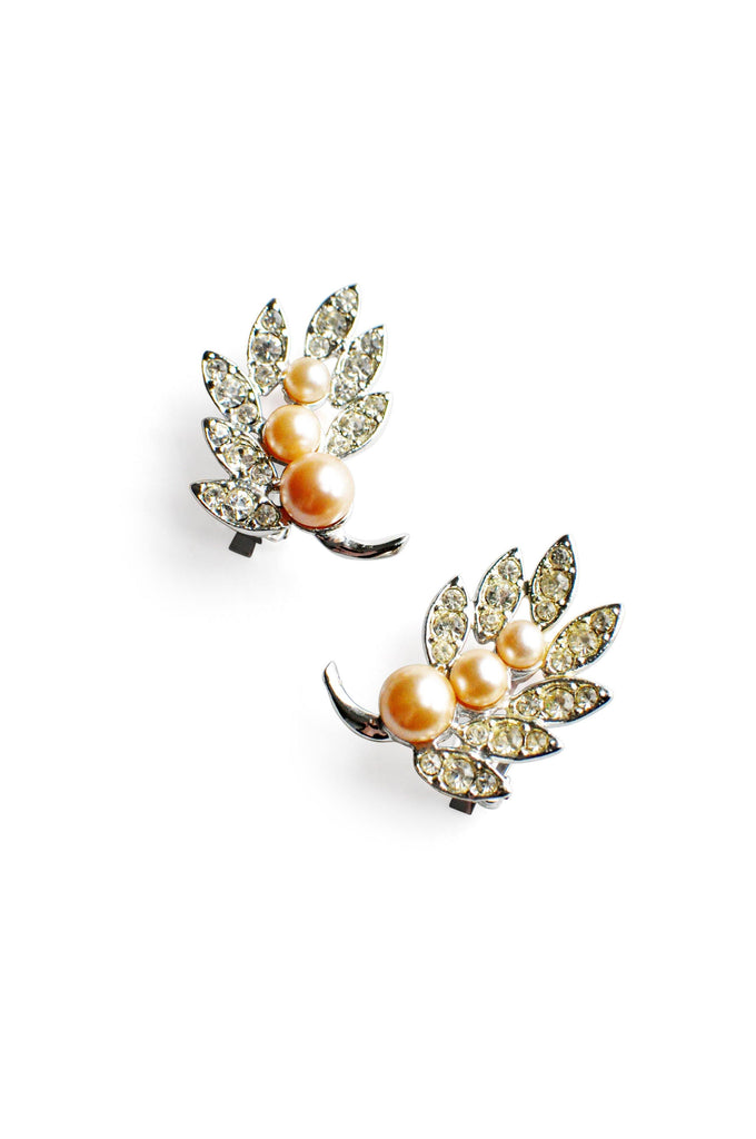 Pearl Crawler Clip-on Earrings