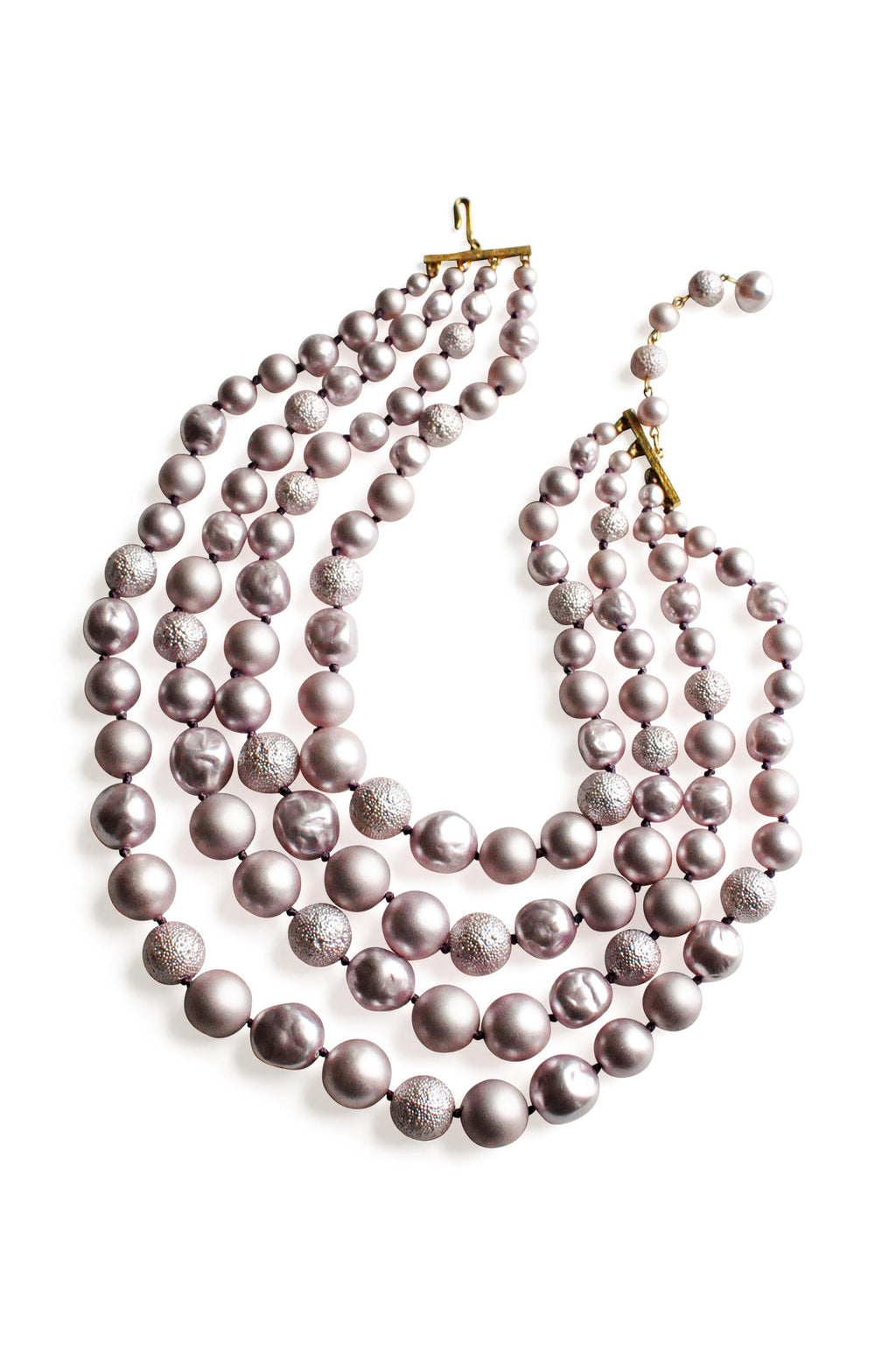 Purple Pearl Long Necklace