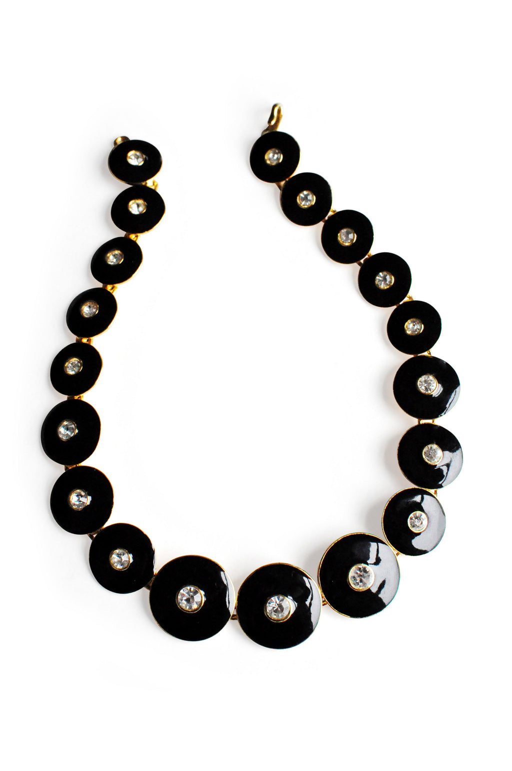 Gold Black Chunky Necklace
