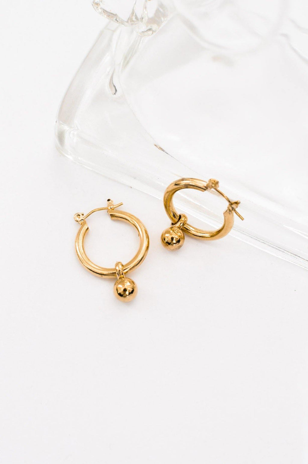 Hoop Ball Pierced Earrings