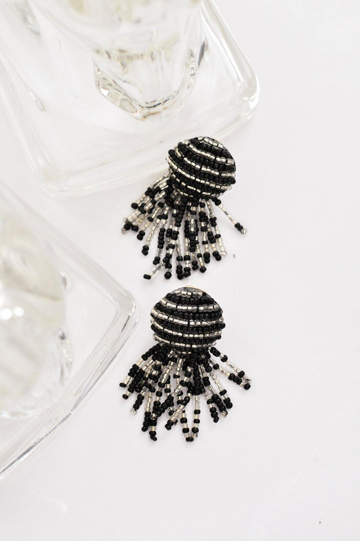 Vintage striped beaded earrings from Sweet & Spark.