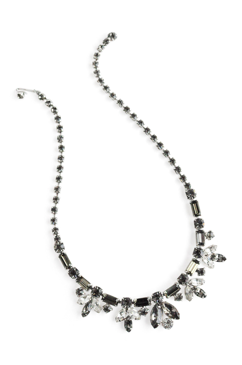 Grey Rhinestone Necklace