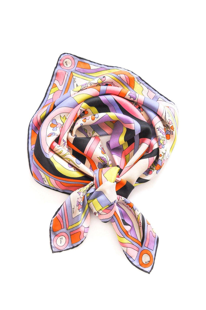 Pucci Floral Square Scarf