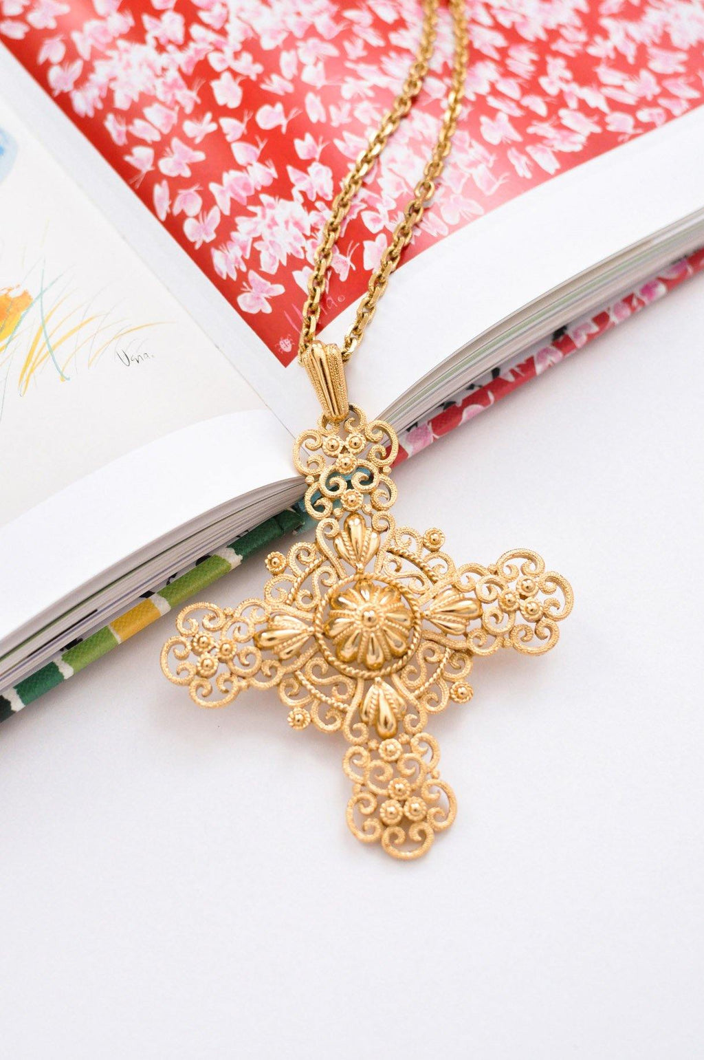 Large Cross Statement Necklace
