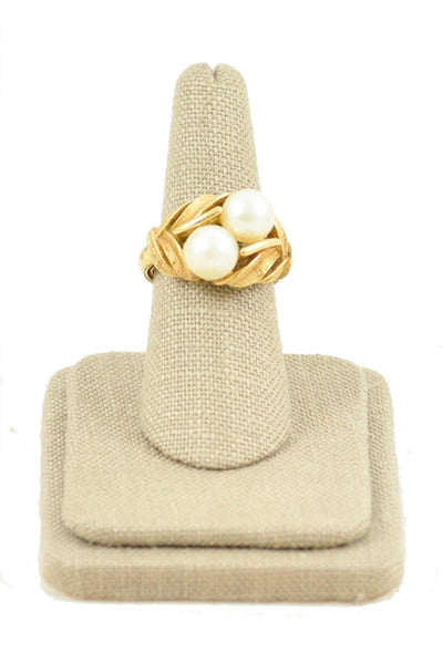 70's__Avon__Pearl Cocktail Ring Sz 7 to 8 1/2