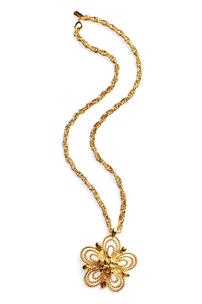 Monet Gold Floral Necklace