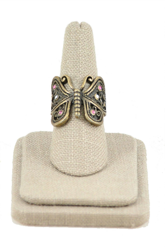 70's__Vintage__Butterfly Ring Sz 8 1/2