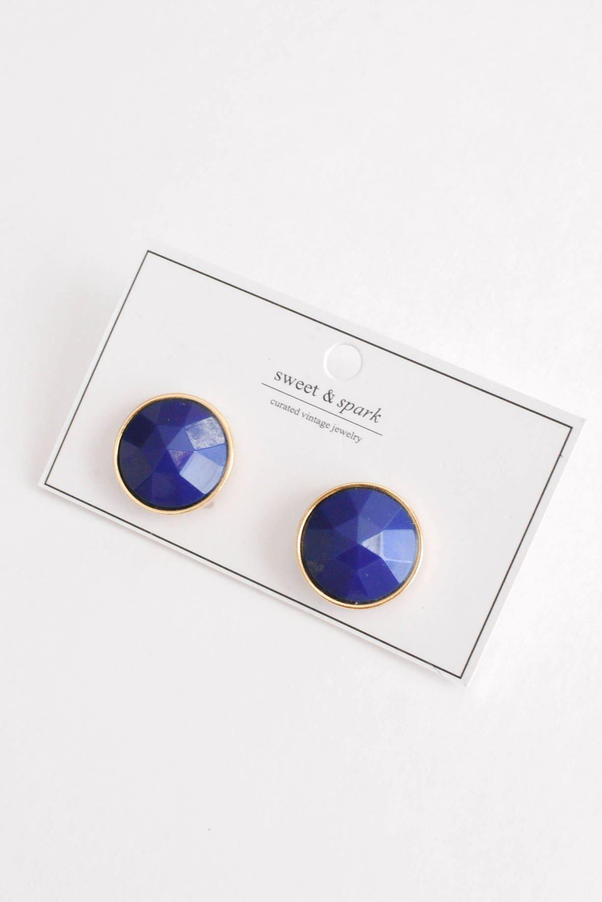 Blue Clip-on Earrings
