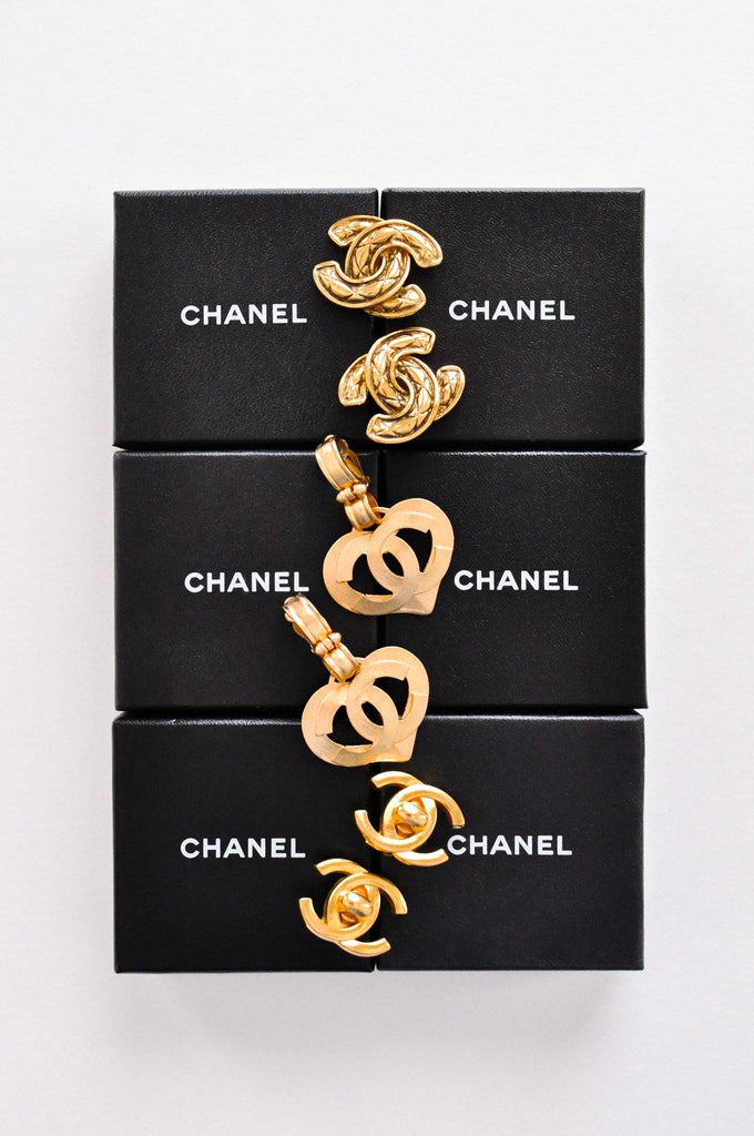 Chanel Quilted CC Clip-on Earrings
