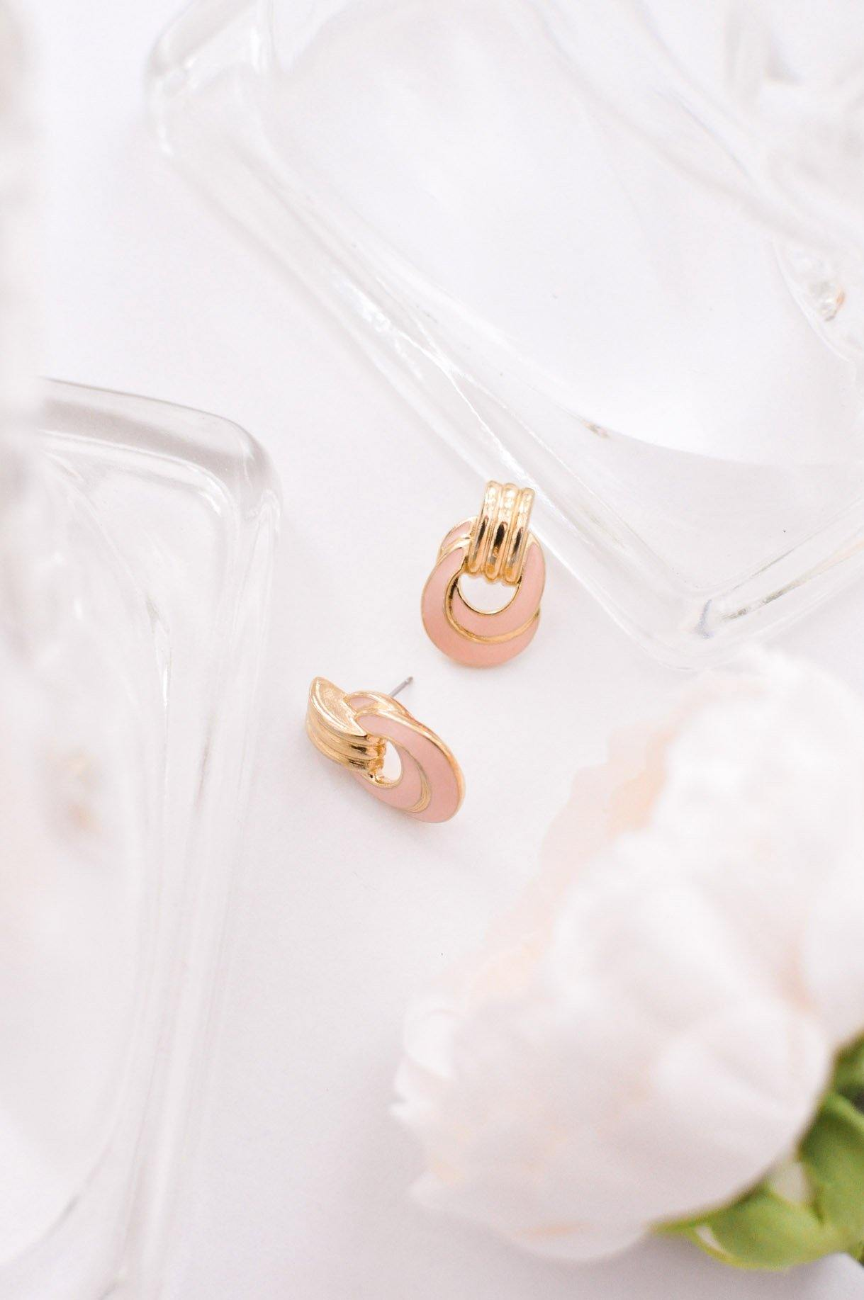 Blush Double Hoop Pierced Earrings