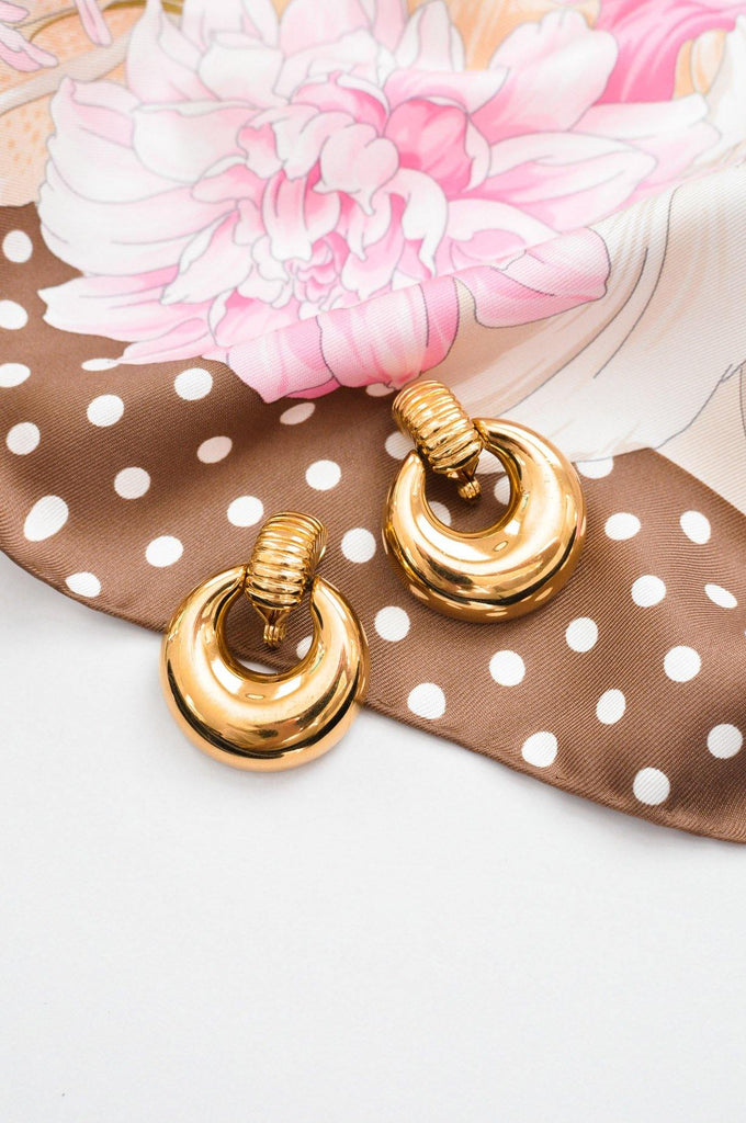 Bold Door Knocker Clip-on Earrings