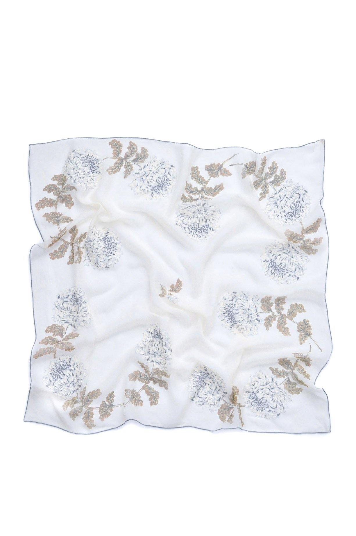 Floral Chiffon Square Scarf
