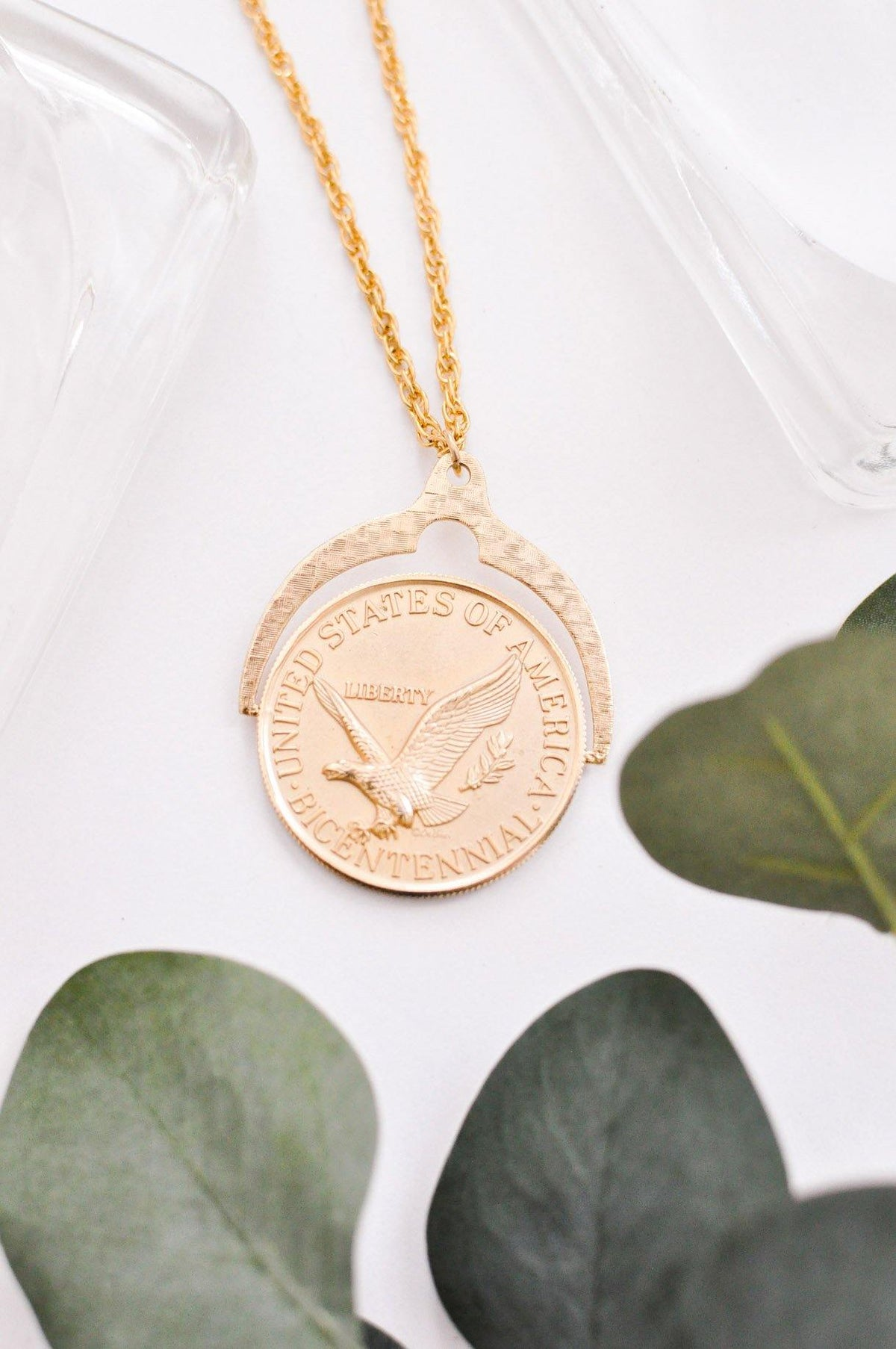 Vintage United States Coin Necklace from Sweet and Spark.