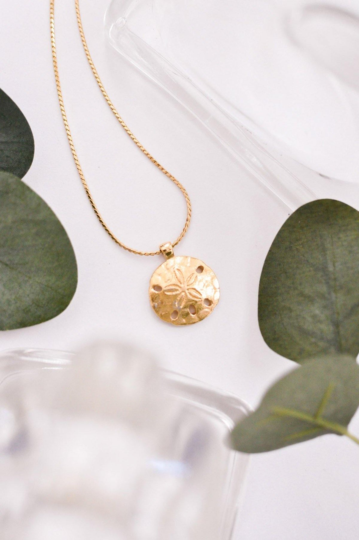 Vintage Sand Dollar Statement Necklace from Sweet and Spark.