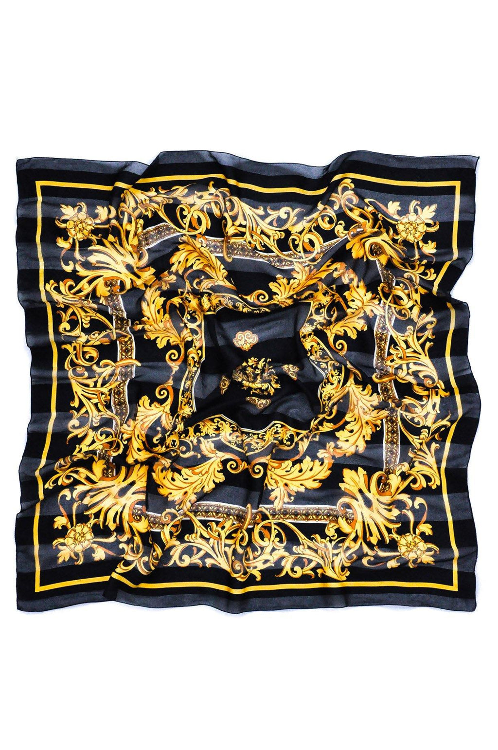 Gold & Black Square Scarf