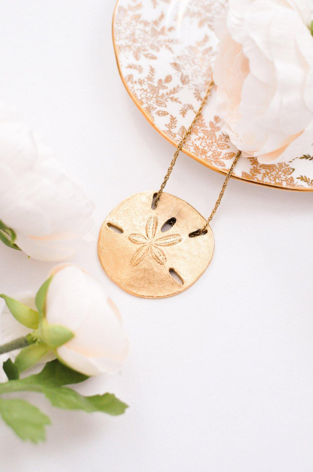 Large Sand Dollar Pendant Necklace