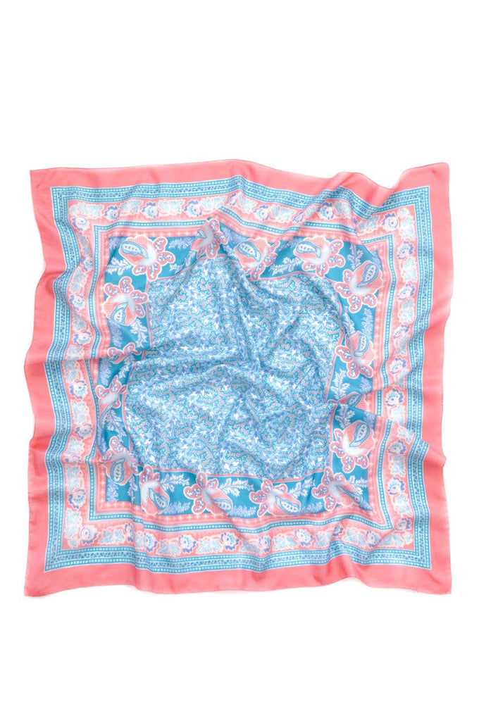Pink Paisley Square Scarf