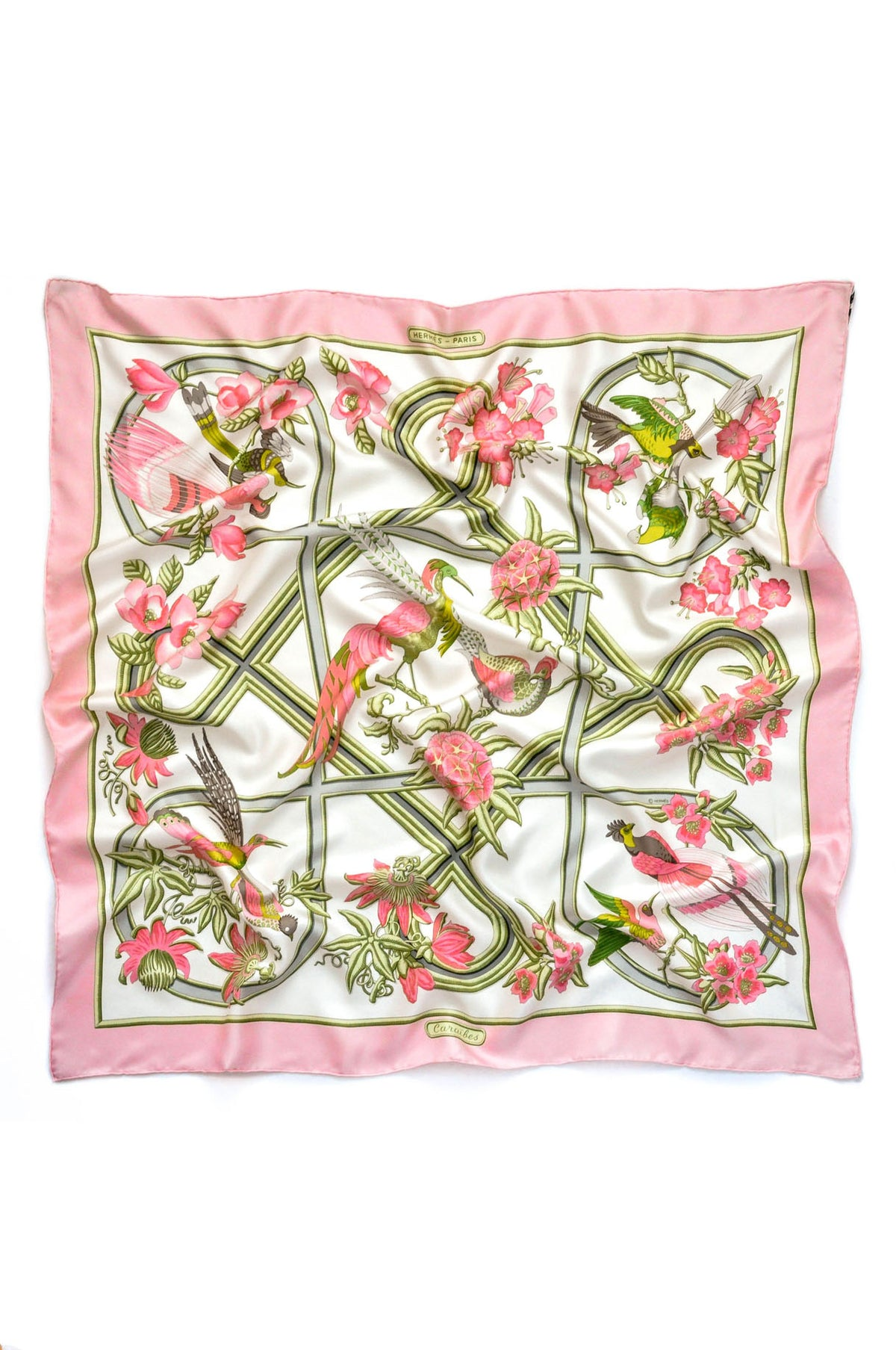 Vintage Hermès Caraibes Scarf from sweet and spark