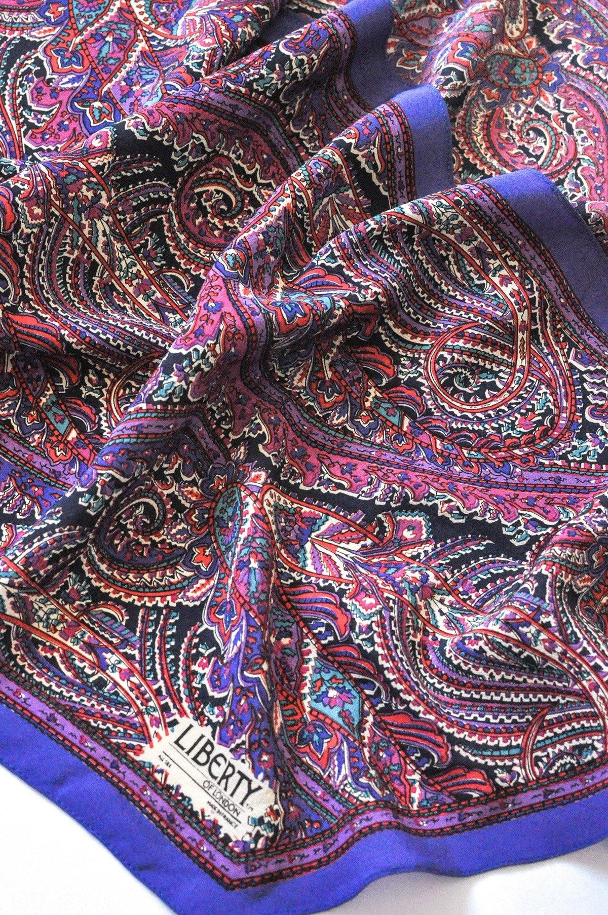 Vintage Liberty of London Paisley Rectangle Scarf from Sweet & Spark.