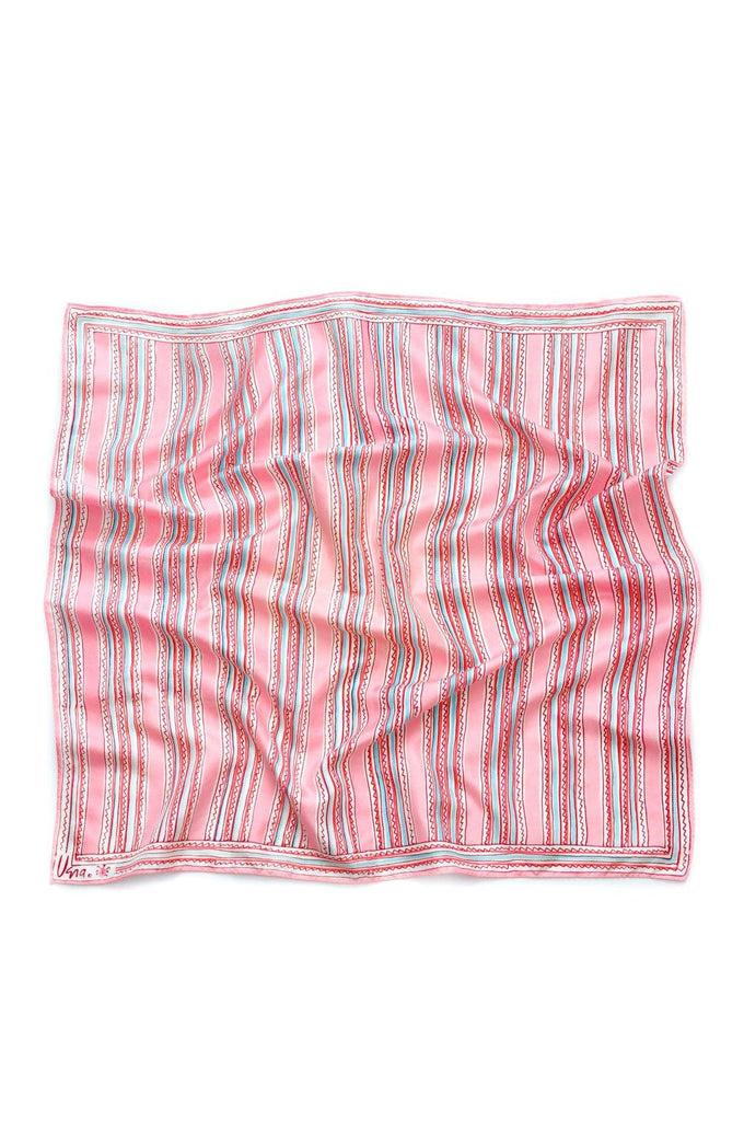 Pink Zigzag Square Scarf