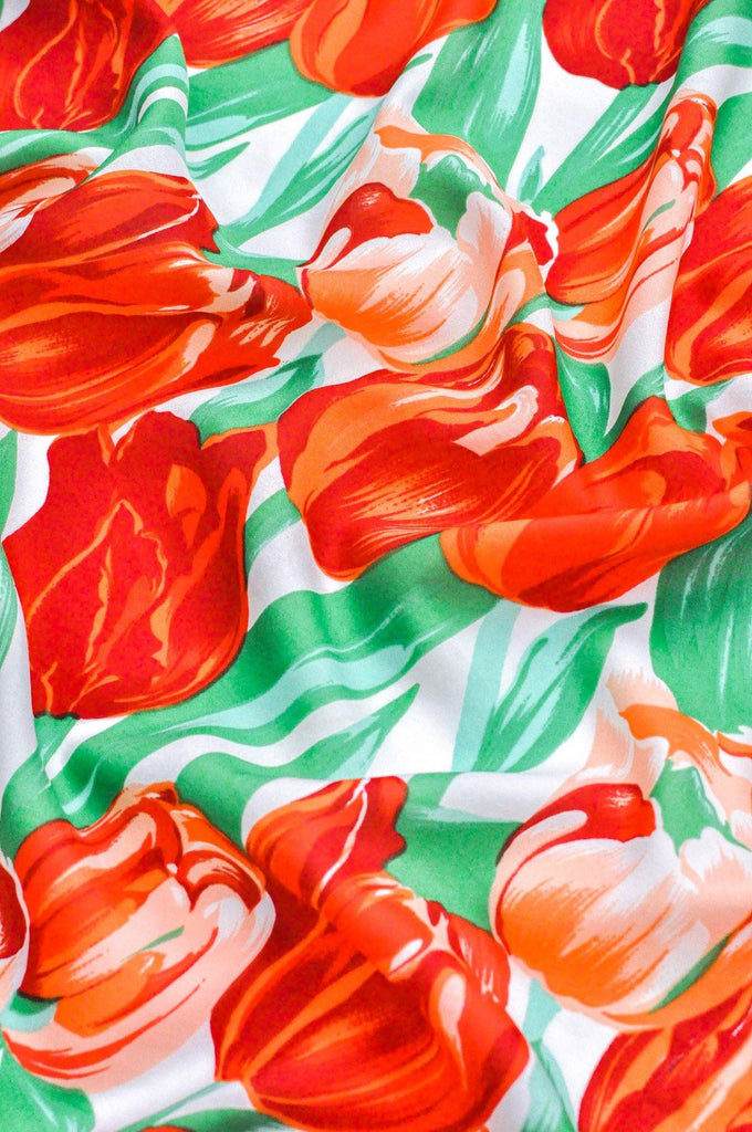 Bright Tulip Square Scarf