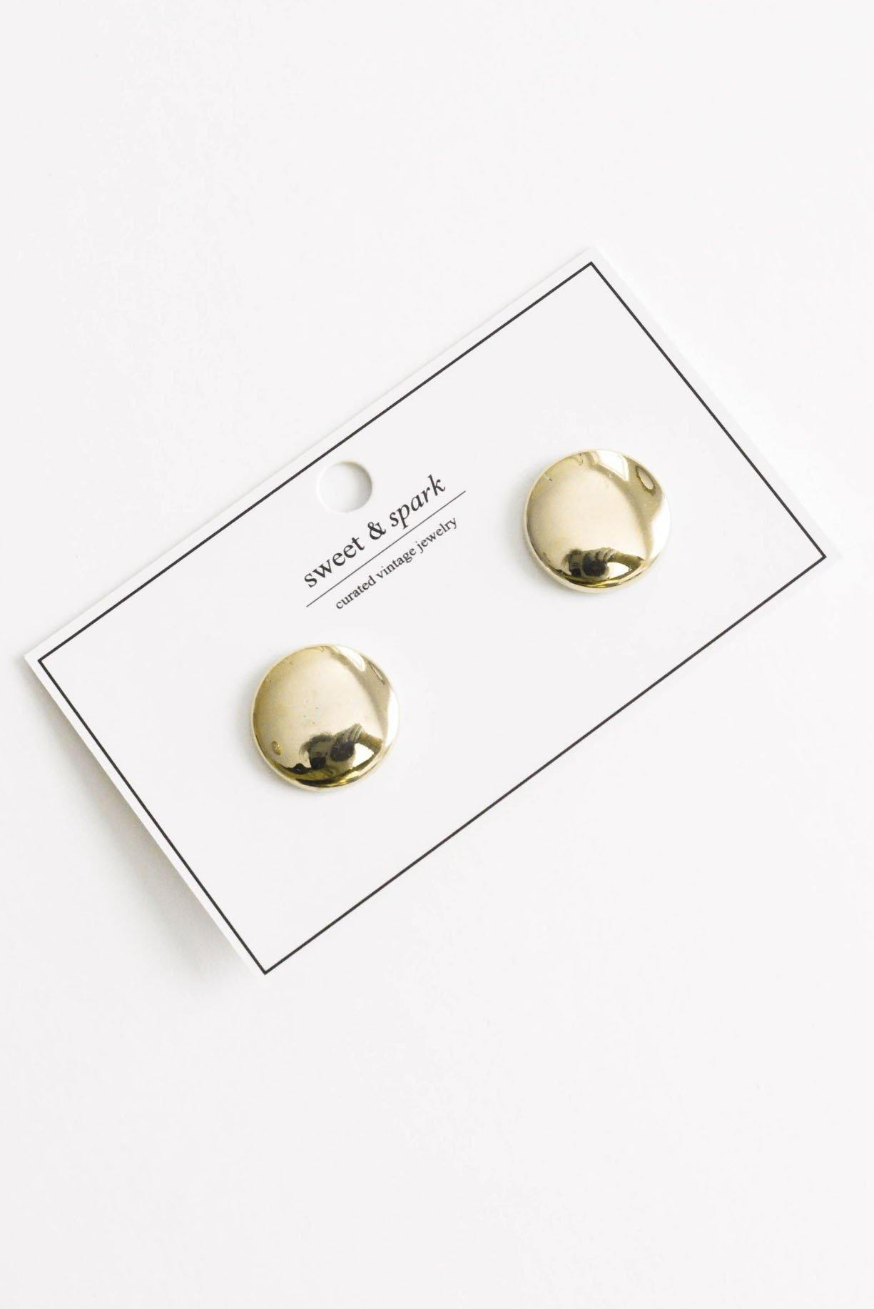 Disc Clip-on Earrings