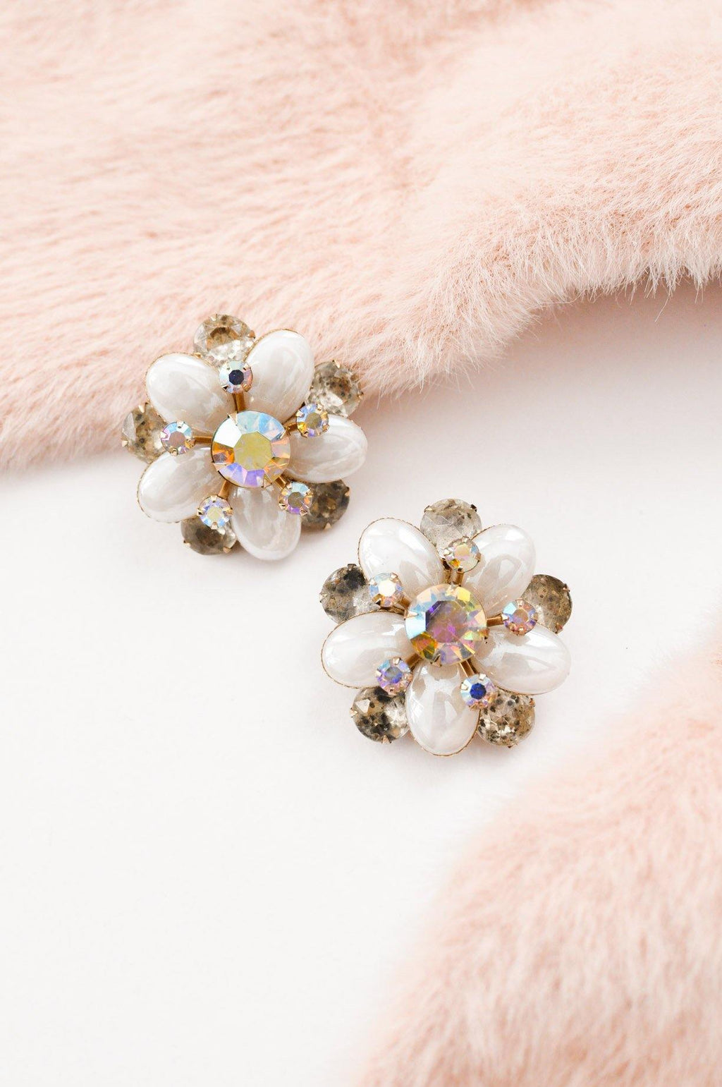 Statement Rhinestone Clip-on Earrings