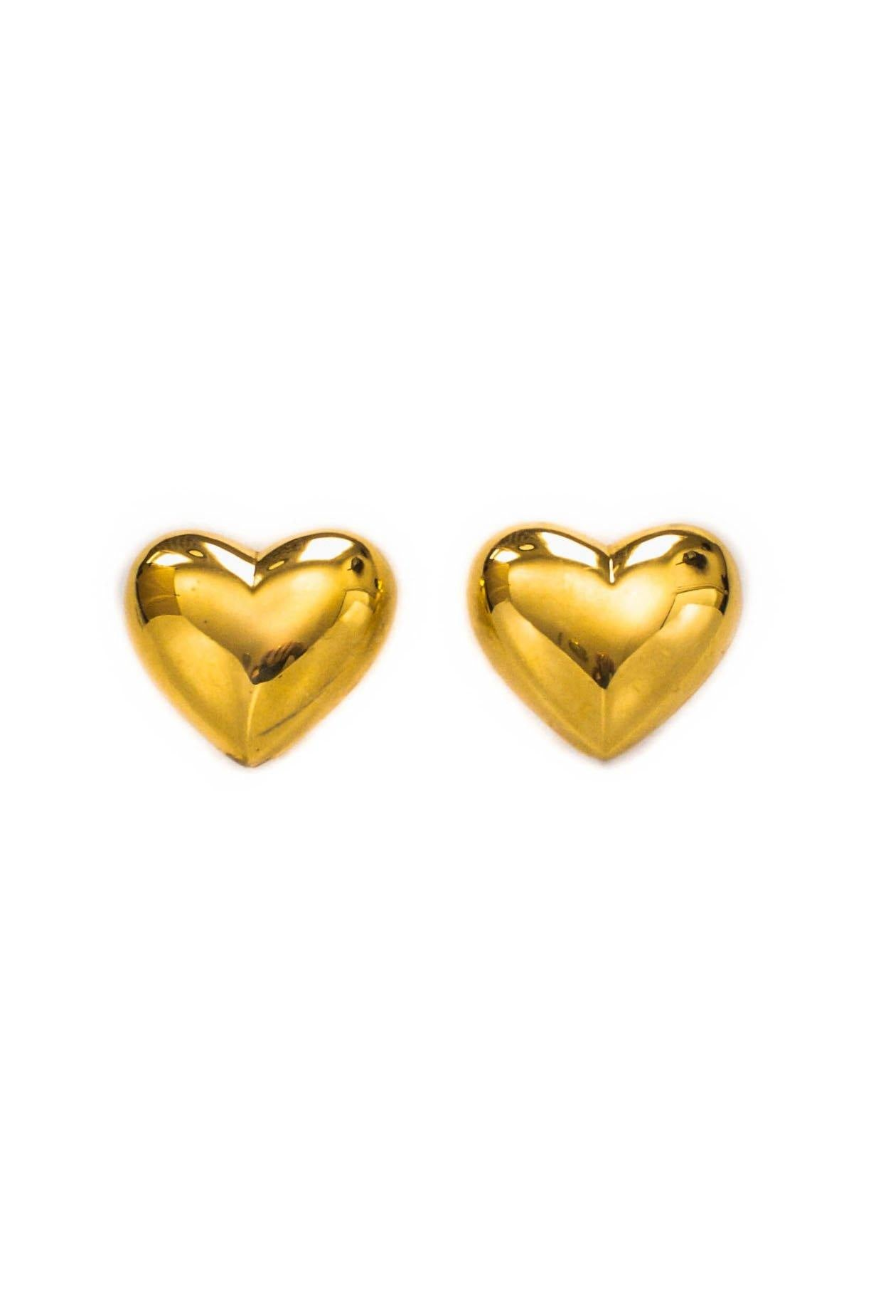 Vintage Puffy Heart Clip-on Earrings from Sweet and Spark