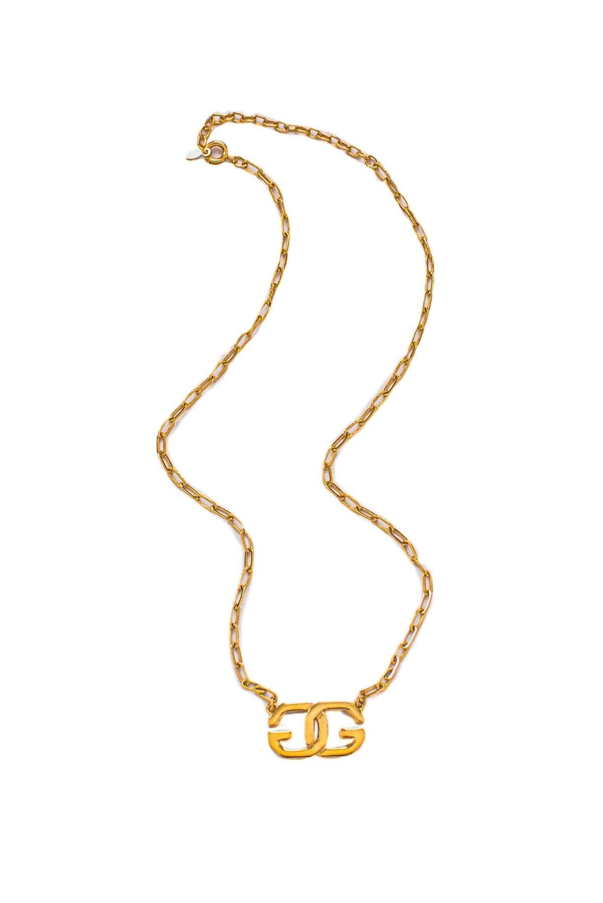 Vintage Givenchy Logo Necklace from Sweet & Spark.