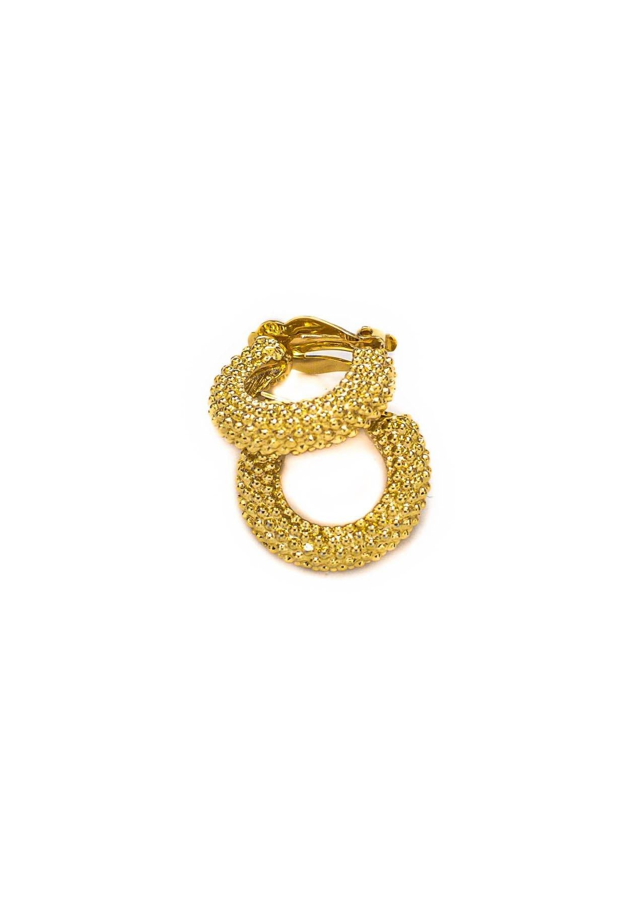 Vintage Givenchy Textured Clip-on Hoop Earrings from Sweet and Spark