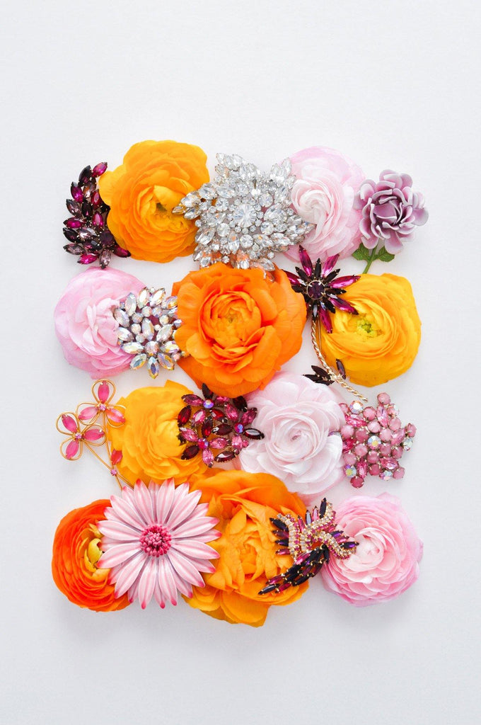 Pink Pop Floral Statement Brooch