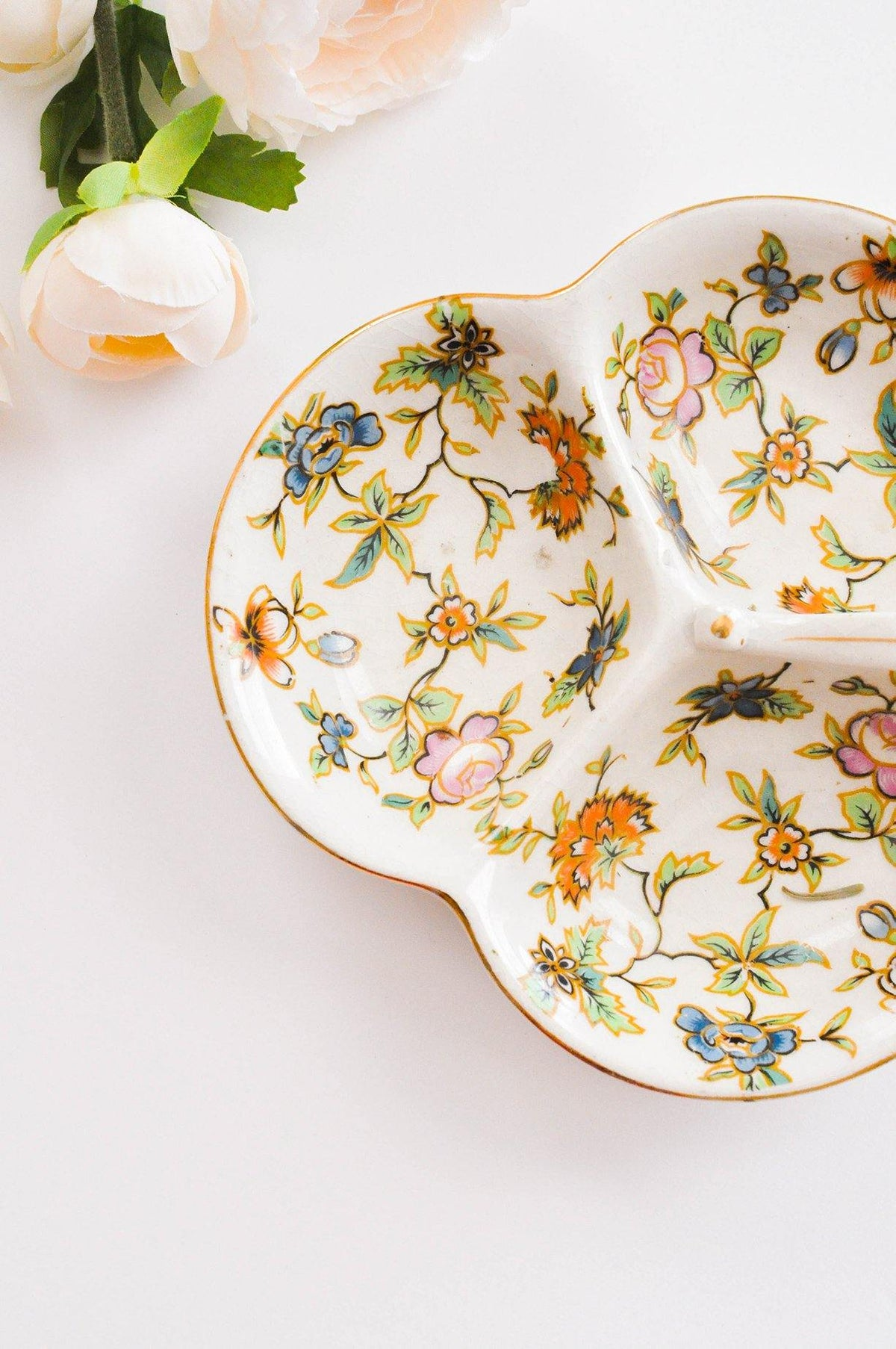 Painted Floral Dish - Sweet & Spark