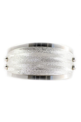70s__Emmons__Textured Silver Cuff