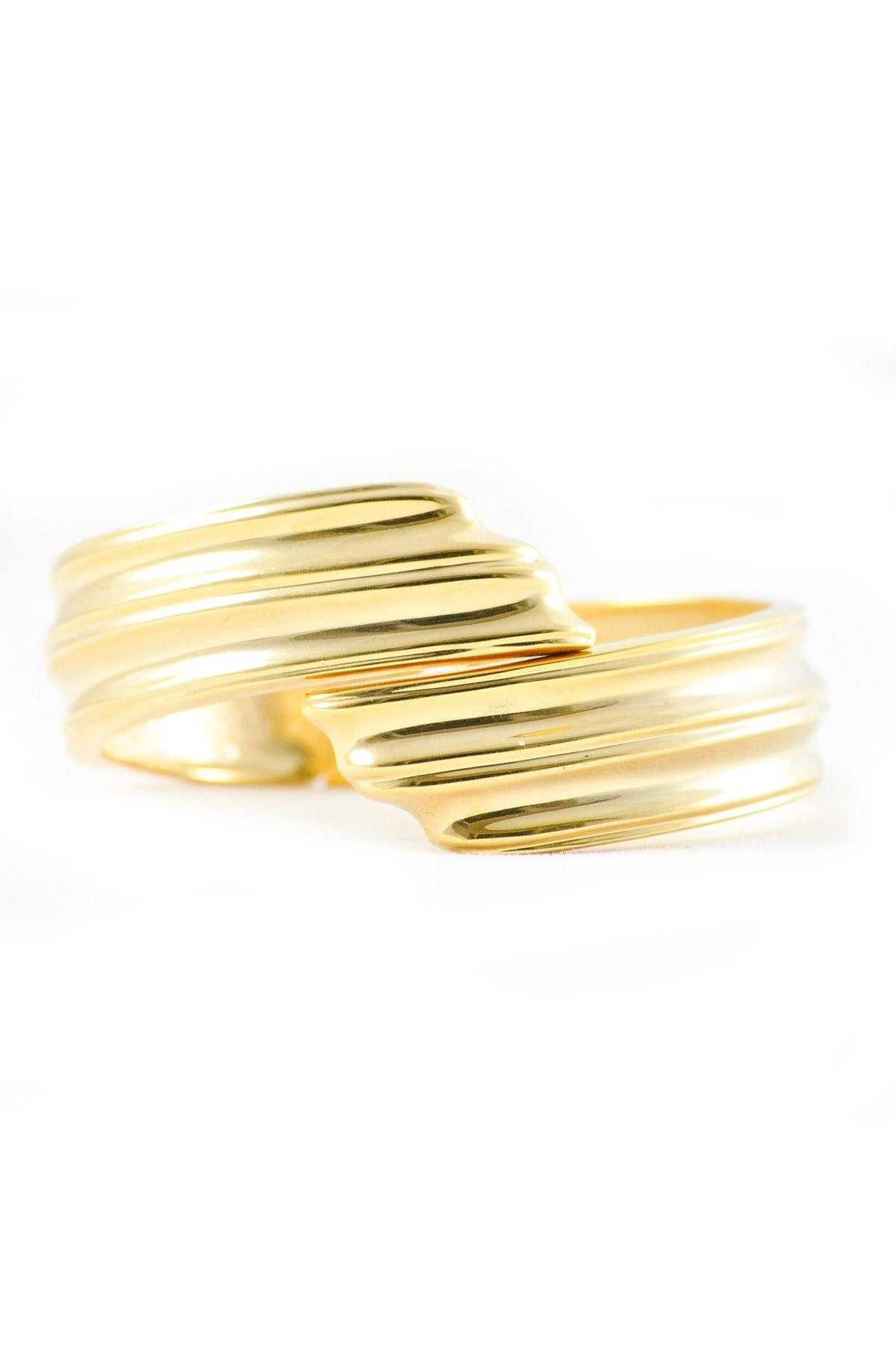 80's Vintage Textured Gold Bangle