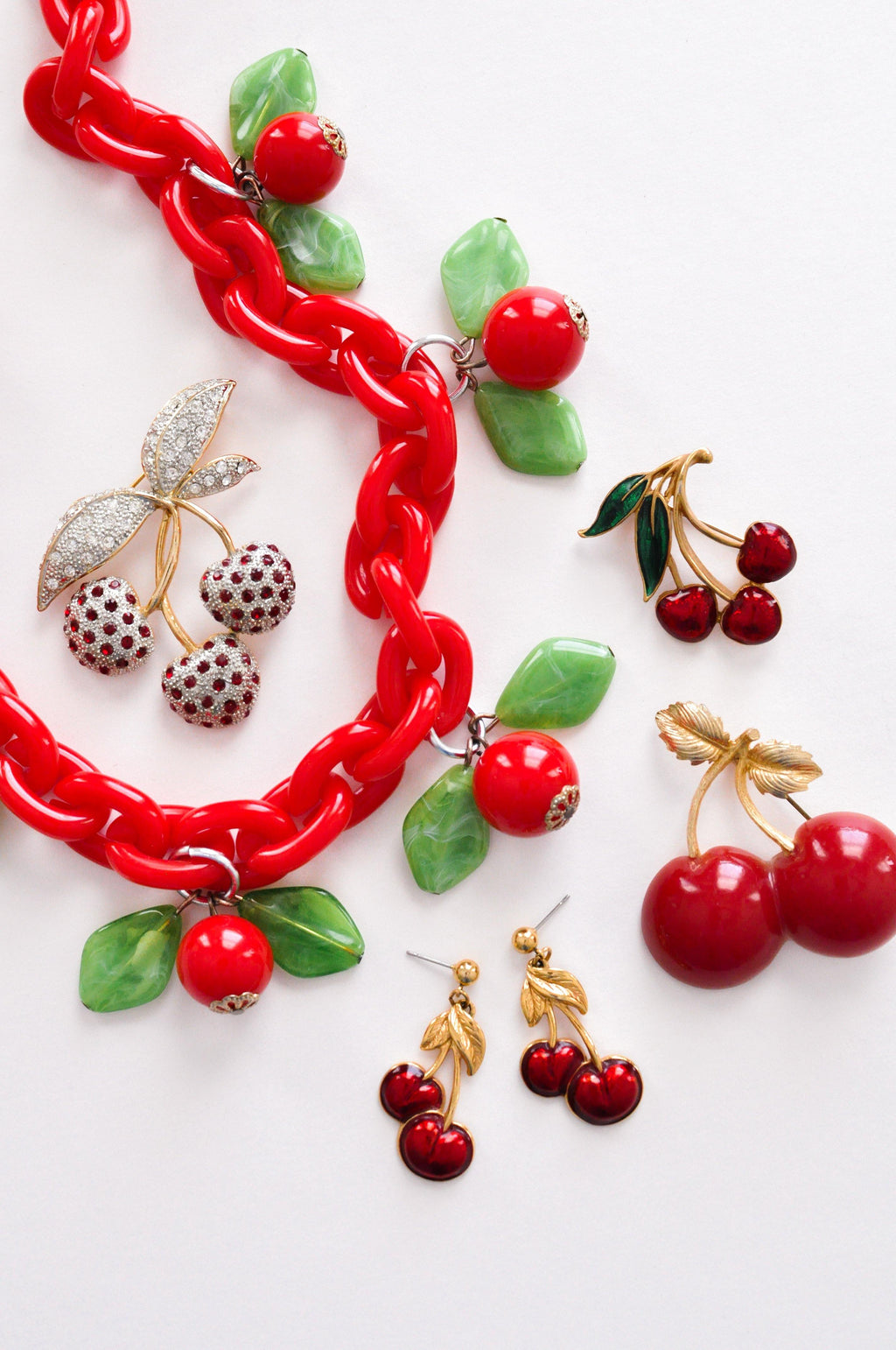 Cherries Brooch