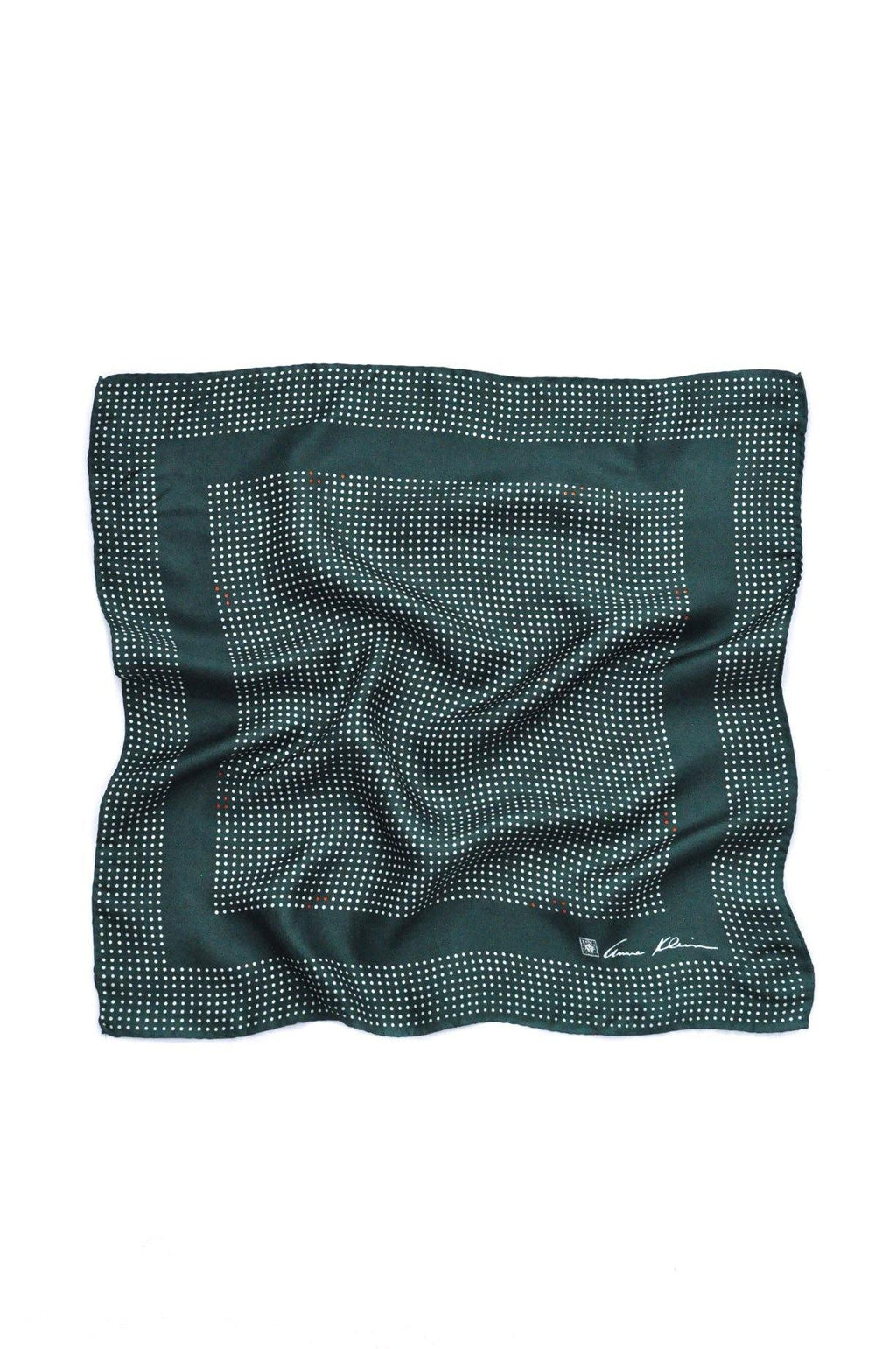 Emerald Green Polka Dot Square Scarf