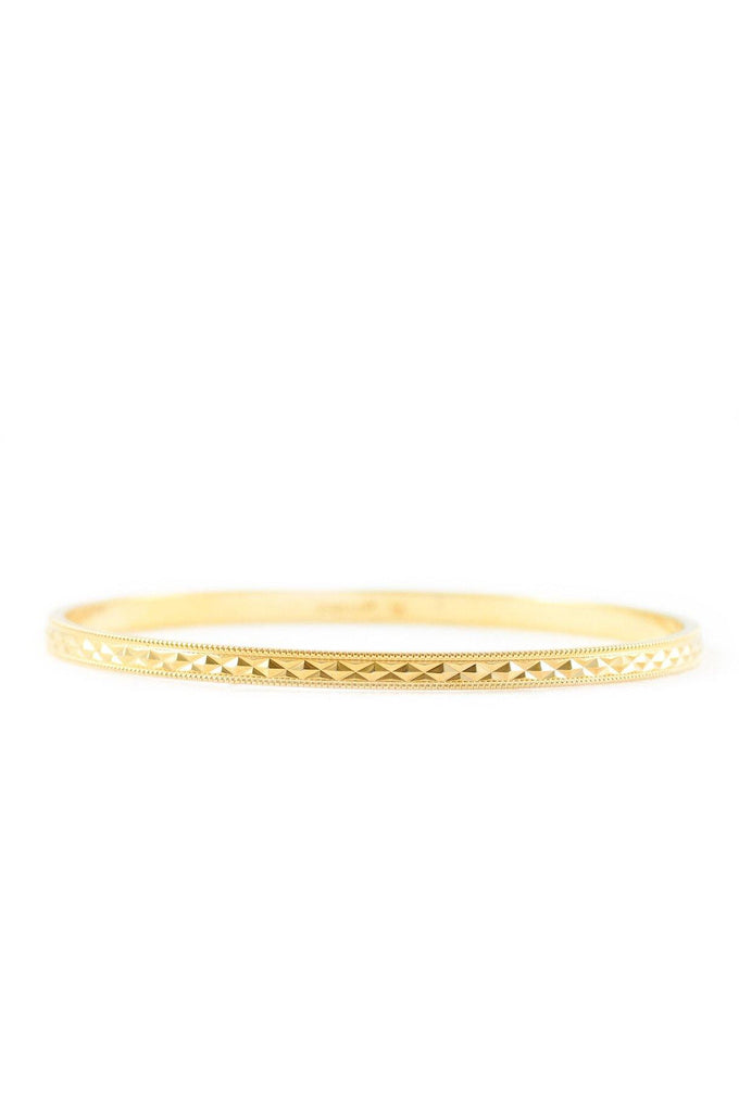 70s__Monet__Textured Gold Bangle