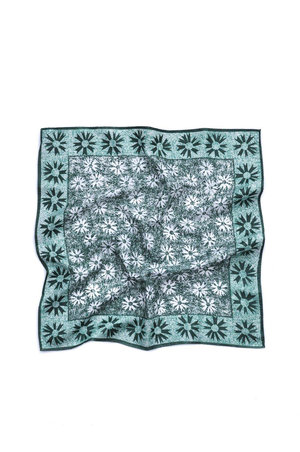 Green Burst Square Scarf