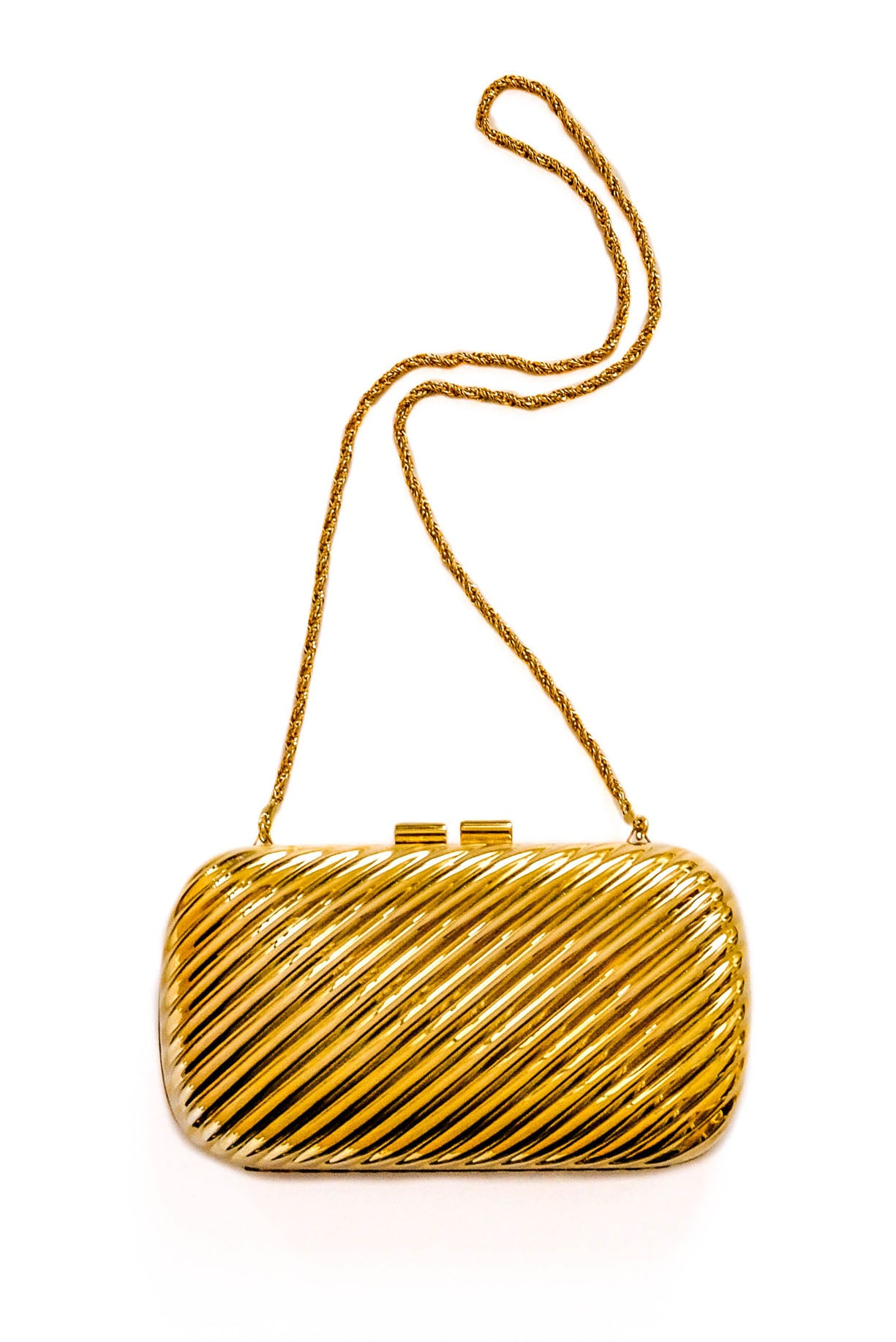 Vintage brass clamshell bag from Sweet & Spark.