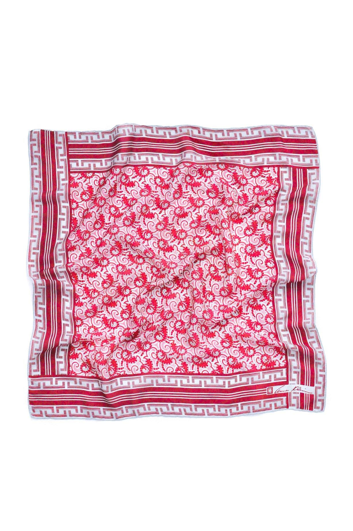 Red Paisley Square Scarf From Sweet & Spark