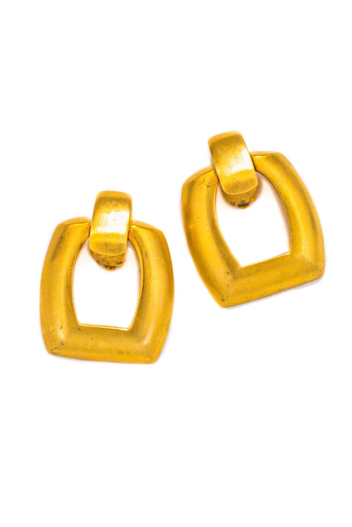 Vintage Jumbo Door Knocker Clip-on Earrings from Sweet and Spark