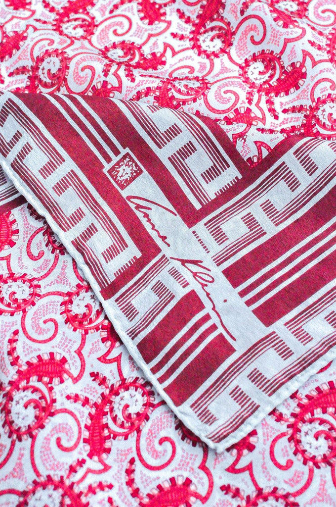 Red Paisley Square Scarf