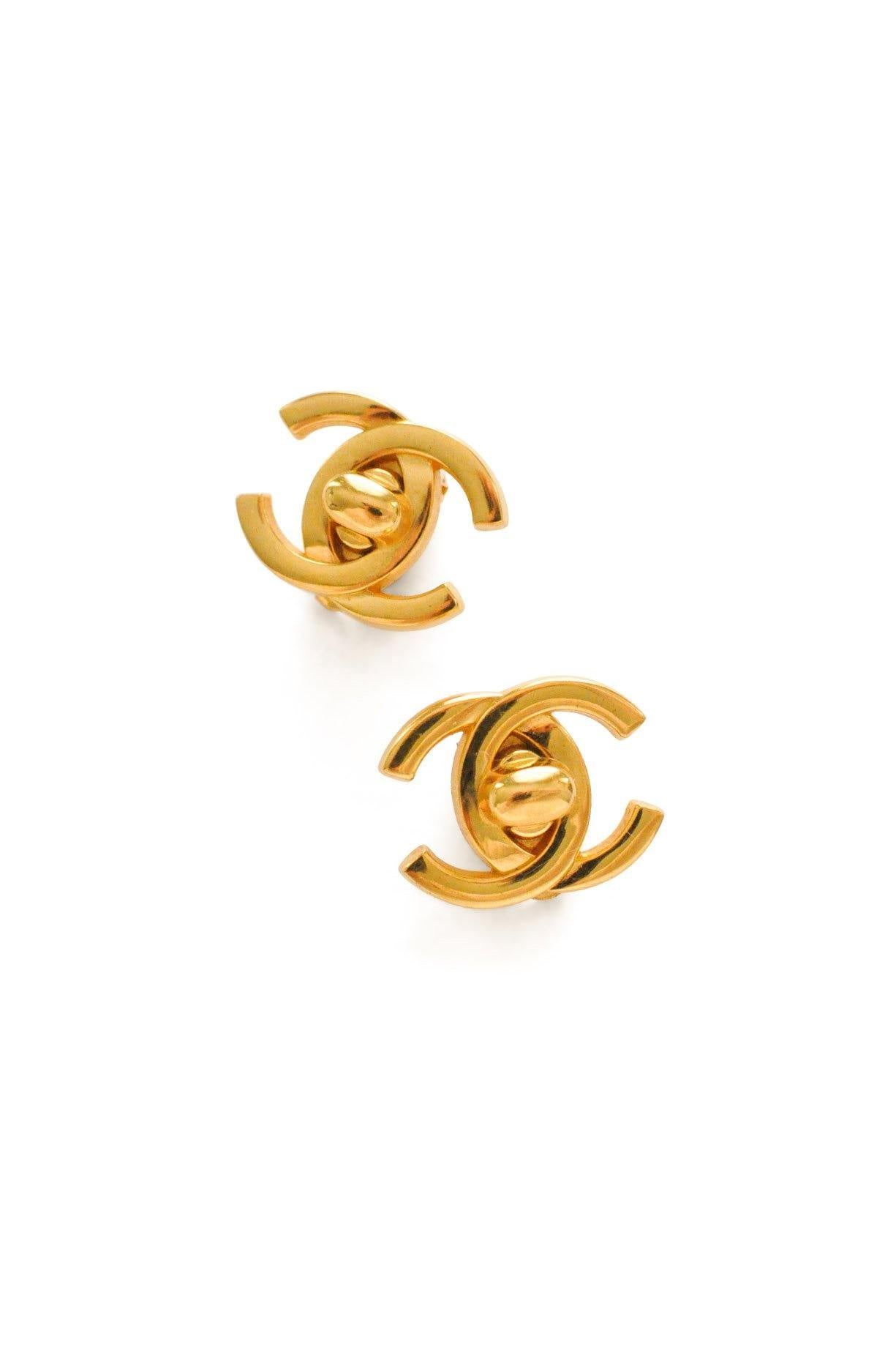 Chanel Turnlock CC Clip-on Earrings