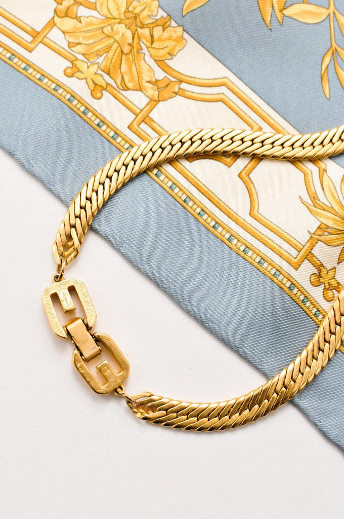 Givenchy Flat Chain Statement Necklace