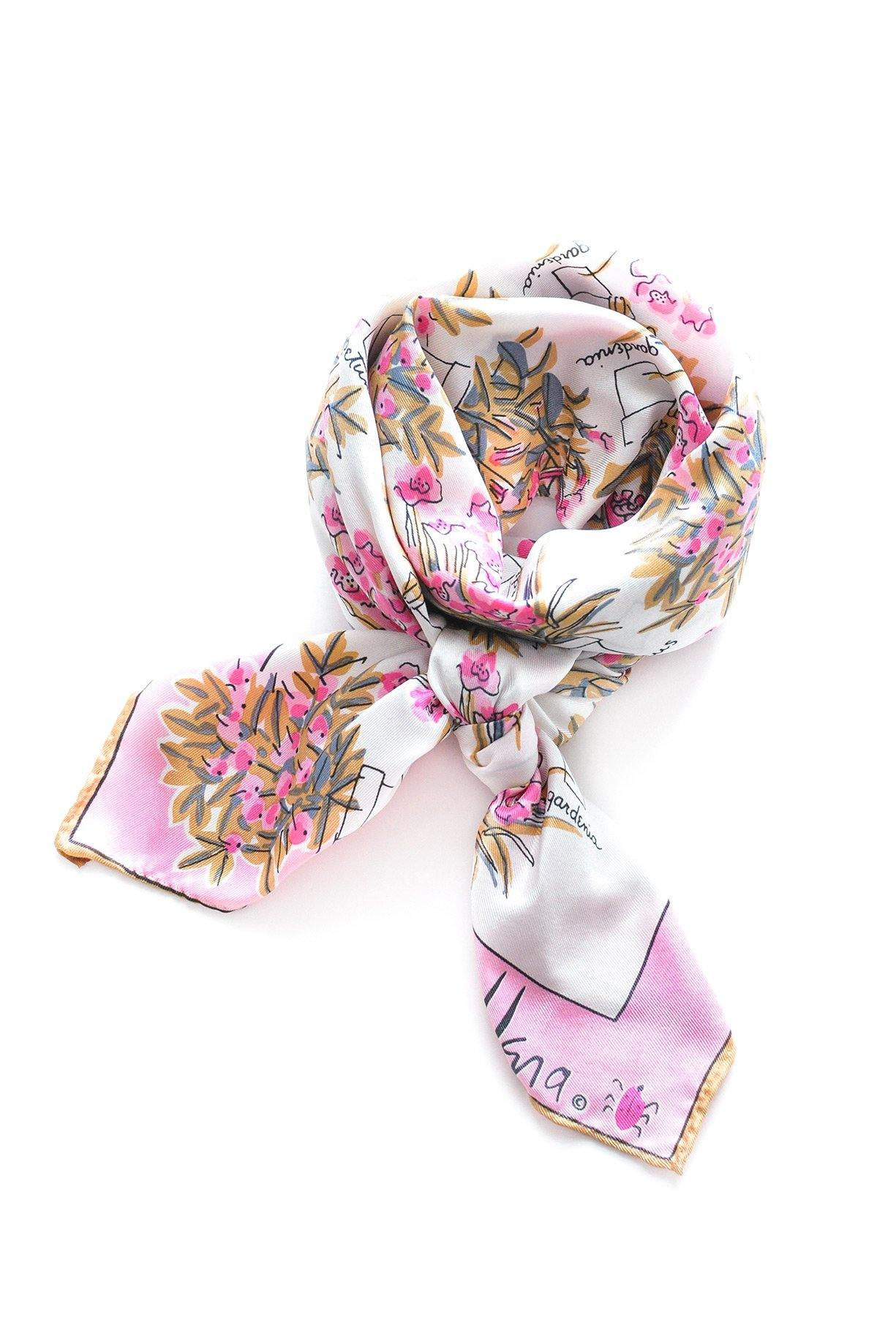 Floral Types Square Scarf