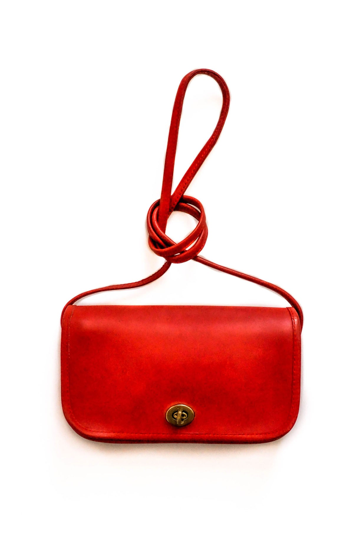 Vintage Red leather crossbody bag from Sweet & Spark.