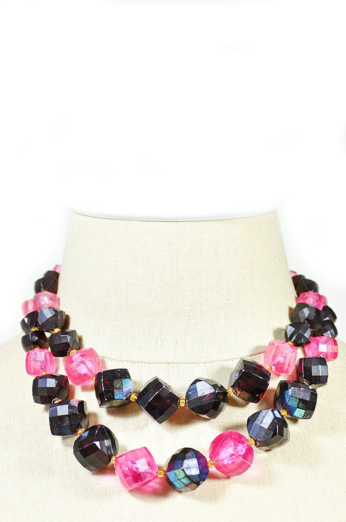 60's__Vintage__Statement Beaded Necklace