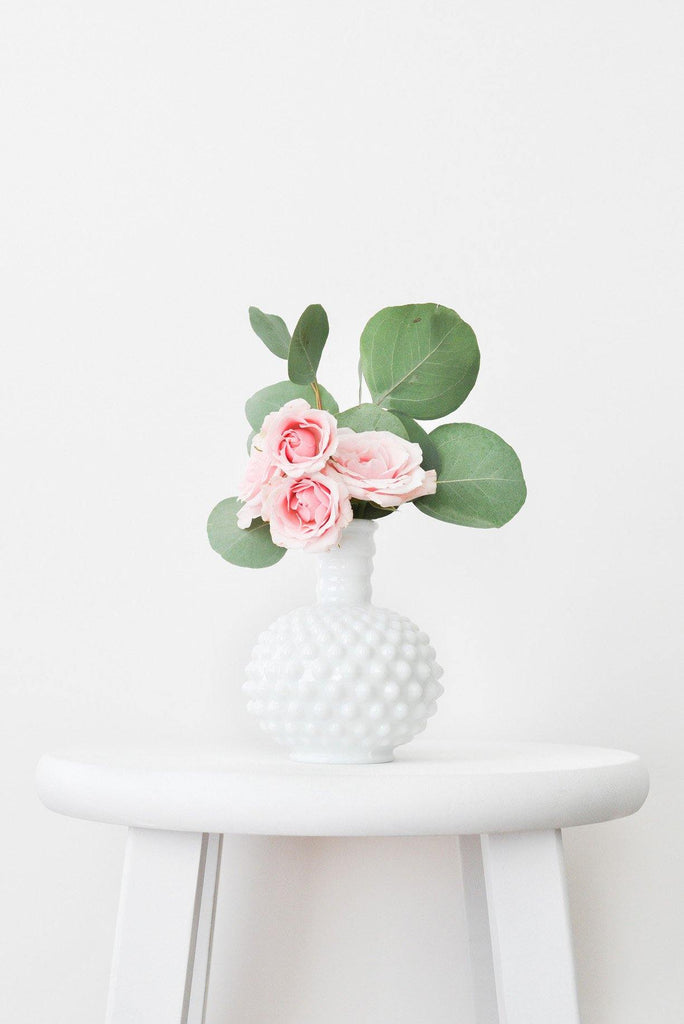 Milk Glass Knobby Vase