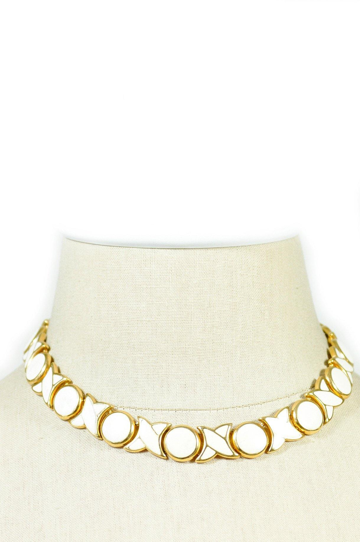 80's__Napier__Enameled Choker Necklace