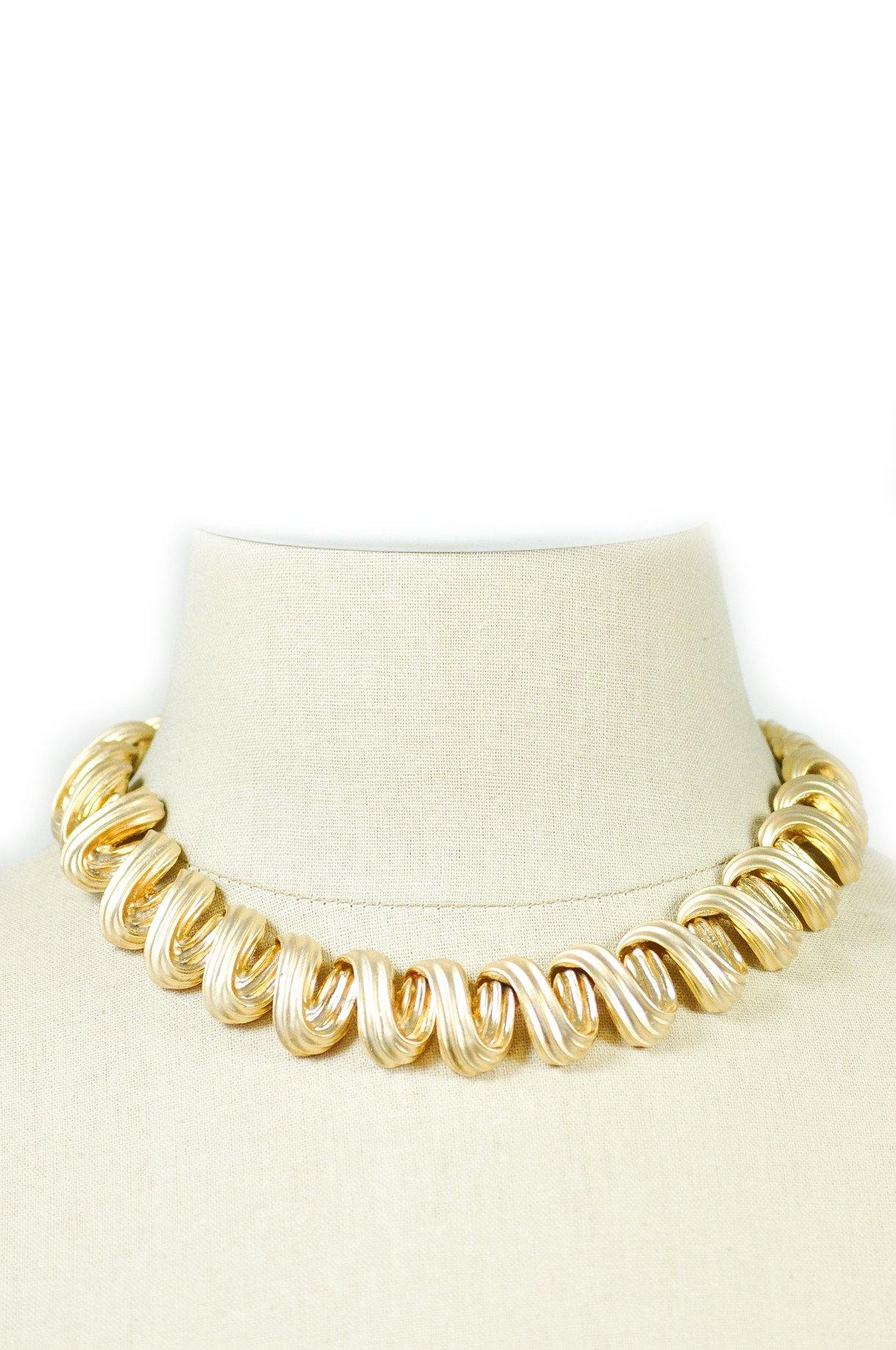 80's__Vintage__Statement Swirl Necklace